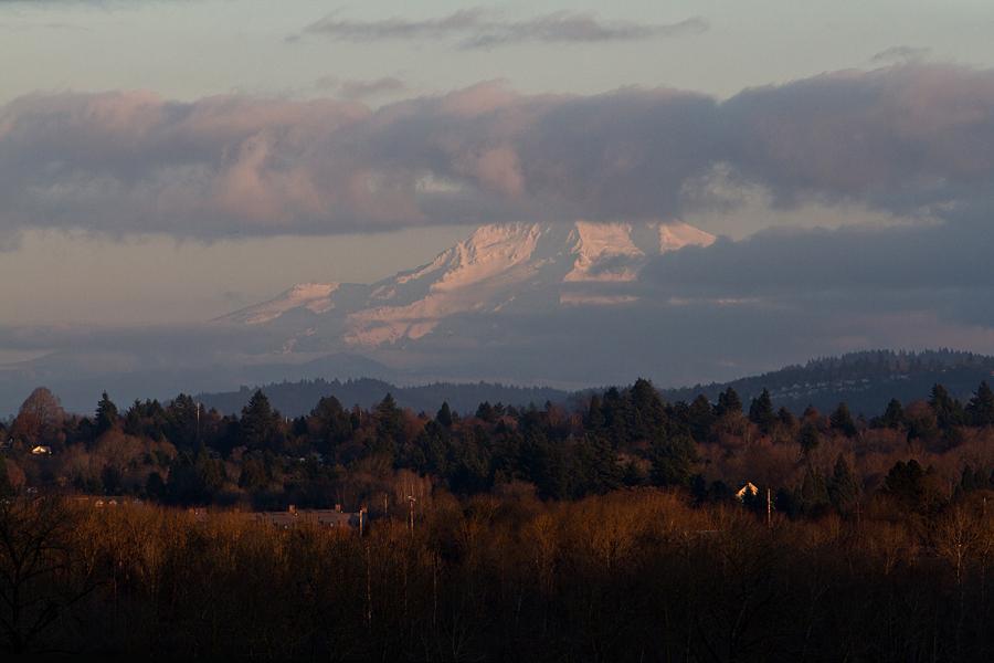 Mt. Hood, Oregon at Sunset.  by Alan  Weiner - Landscapes Mountains & Hills ( mt. hood, oregon. sunset )