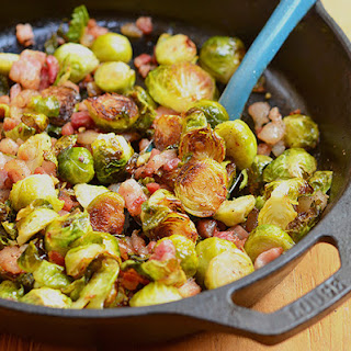 Roasted Brussels Sprouts with Garlic and Pancetta