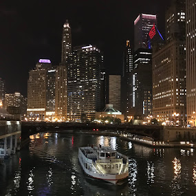Chicago at Night by Stephanie Parmley Givens - Instagram & Mobile iPhone