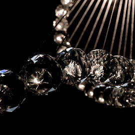 Crystal Chandelier by Steve Bennett - Novices Only Objects & Still Life ( hanging, balls, chandelier, sparkle, crystal, curved,  )