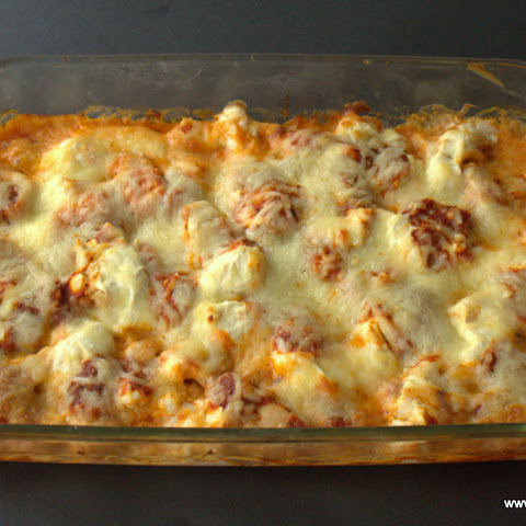 Five Minute Five Ingredient Pizza Chicken Casserole