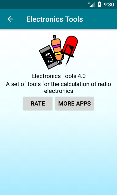 Radio components calculator Screenshot 0