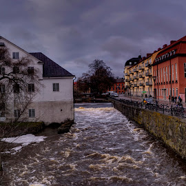 Uppsala by Stratos Lales - City,  Street & Park  Historic Districts ( sweden, uppsala, firis, river, city )