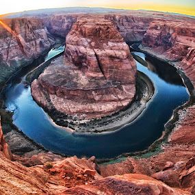 Horseshoe Bend by Nancy Merolle - Landscapes Waterscapes ( tourist, desert, arizona, colorado, travel, horseshoe bend, usa, river,  )