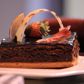 The cake by Andrew Charles - Food & Drink Cooking & Baking ( chocolate, bakery, pastries, cakes, food, yummy, baked )