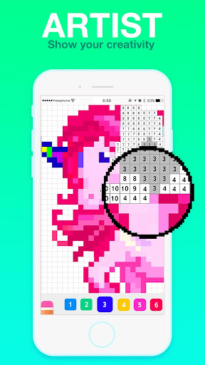Coloring Life - Color by Number Book For PC