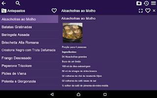 Screenshot of Receitas de Culinária