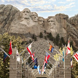 Mt Rushmore by Brittani Chin - Buildings & Architecture Statues & Monuments