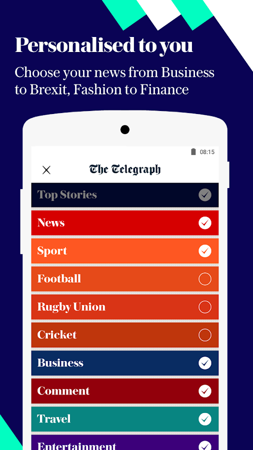The Telegraph - Live News, Sport & Business Screenshot 2