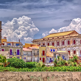 View at Ortygia by Gerrit Kuyvenhoven - Buildings & Architecture Office Buildings & Hotels ( clouds, building, ortygia, italy, city )