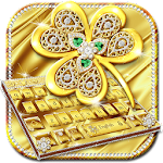 Gold Diamond Leaf Keyboard Icon