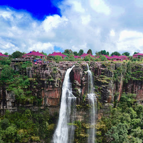 Waterfall by Danette de Klerk - Landscapes Mountains & Hills ( water, mountains, waterfall, landscape, rocks )