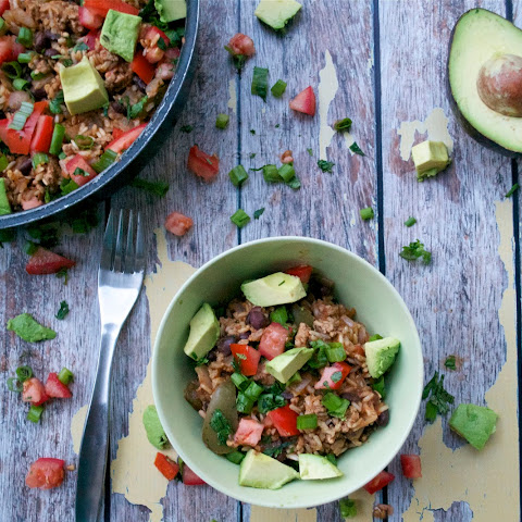 Mexican Turkey and Rice Skillet