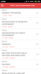 TX Local Government Code 2016 - screenshot