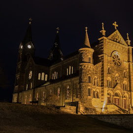 Night Church by Caleb Daugherty - Buildings & Architecture Places of Worship