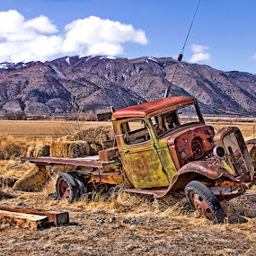 Old Hay Truck by Patti Reddoch - Transportation Automobiles (  )