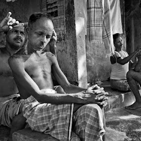 by Saumalya Ghosh - News & Events World Events ( black and white )