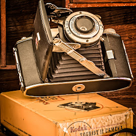 Camera by William Boyea - Artistic Objects Antiques ( hdr, camera, kodak, box, antiques )