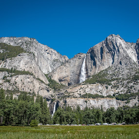 Yosemite Falls by Mehul V - Landscapes Mountains & Hills ( yosemit, national park, waterfalls )