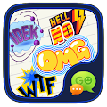 (FREE) GO SMS HOT WORD STICKER APK for Bluestacks
