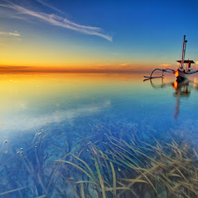 Trapped By Your Beauty by Satrya Prabawa - Transportation Boats ( bali, sanur beach, indonesia, sunrise, boat )