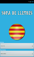 Screenshot of Sopa de Lletres