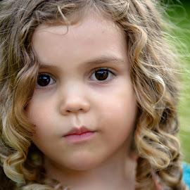 Curls by BK Oakes - Babies & Children Children Candids ( playing, brown eyes, summer, curls, child )