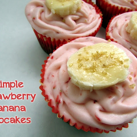 Simple Strawberry Banana Cupcakes