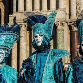 Carnival masks Venice, Italy by Viorel Stanciu - People Fashion ( carnival, venice carnival italia carnevale venezia, venice, masks, costume )