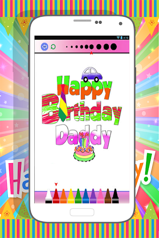 android Happy Birthday Coloring Book Screenshot 4
