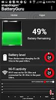 Screenshot of Snapdragon™ BatteryGuru