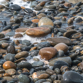 by Kathy Suttles - Nature Up Close Rock & Stone ( washington, suttleimpressions, rocky beach, wave washed, ocean )