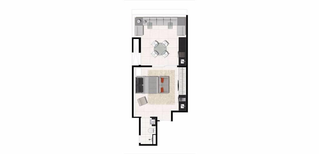 Planta Uphouse  42 m²