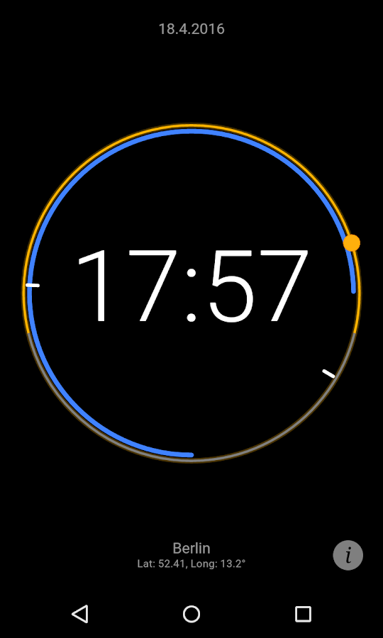 Sun Clock Screenshot 1