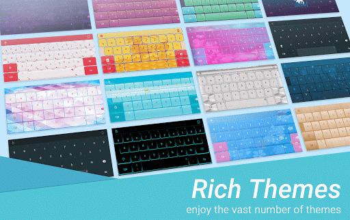 Rainbow Peacock Keyboard Theme - screenshot