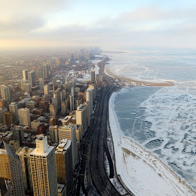 Frozen Chicago by Koenraad De Roo - City,  Street & Park  Skylines ( windy city, skyline, winter, tourism, view, chicago, destination )