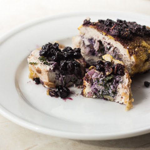 Wild Blueberry and Kale-Stuffed Chicken Breast