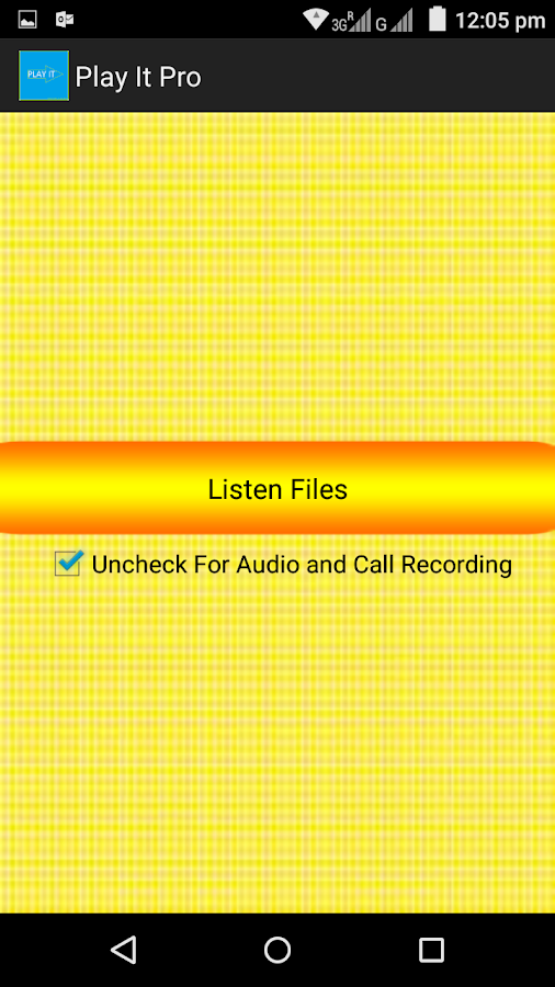 Hidden Call Audio Recorder Pro Screenshot