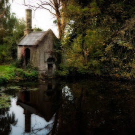 The Water house by Mark Freeman - Buildings & Architecture Decaying & Abandoned ( old house, parks, trees, lake, house, pond )