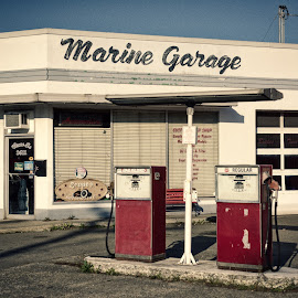 Times a Changin' by Garry Dosa - City,  Street & Park  Street Scenes ( old, industrial, gas station, vintage, commercial )
