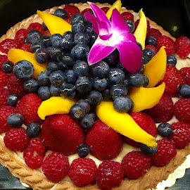 Fresh Fruit and Berry Tart Dessert  by Lope Piamonte Jr - Food & Drink Candy & Dessert