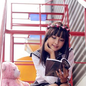 Japanese Students by Joseph Basukarno - People High School Seniors ( fashion, japanese girl, japanese students )