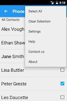 Screenshot of Copy Contacts