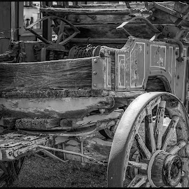 Wagon by Dave Lipchen - Black & White Objects & Still Life ( wagon )