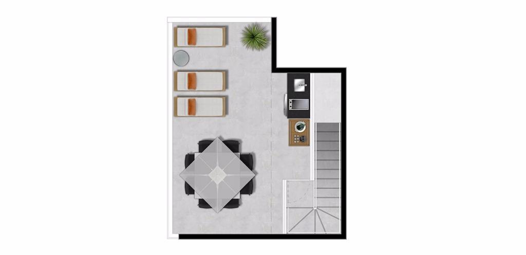 Planta Duplex Superior 53 m²