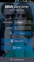 Screenshot of Bancomer móvil