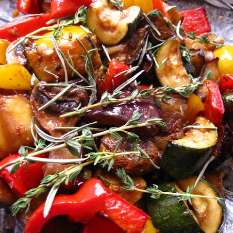 Grilled Vegetables In Spicy Marinade