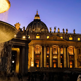 by Nadya Staneva - Buildings & Architecture Public & Historical ( water, roma, monument, piazza, historical, vatican, pietro )
