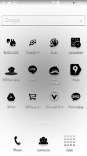 Black iconia - icon pack - screenshot