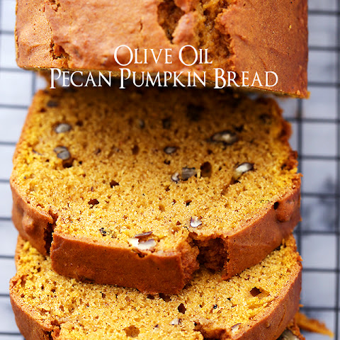 Olive Oil Pecan Pumpkin Bread